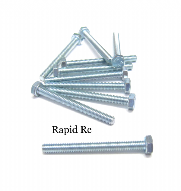 M4 x 50mm Hex Head High Tensile Hex Bolts